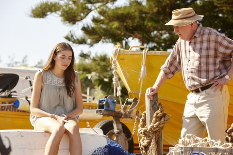 Coco Astoni confides in Alf Stewart in Home and Away