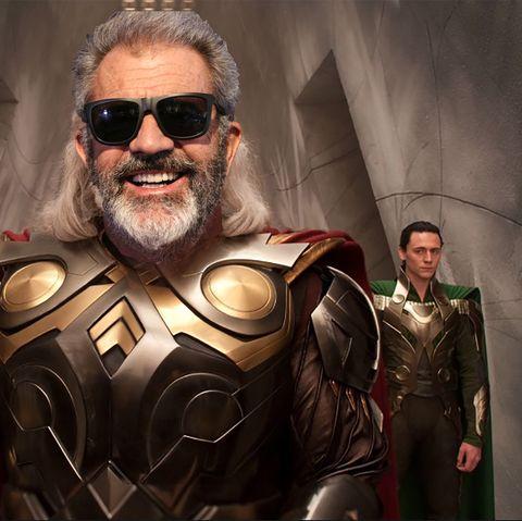 Mel Gibson as Odin COMPOSITE