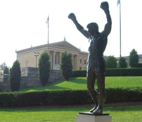 Statue of Sylvester Stallone's Rocky Balboa at the Philadelphia Museum of Art