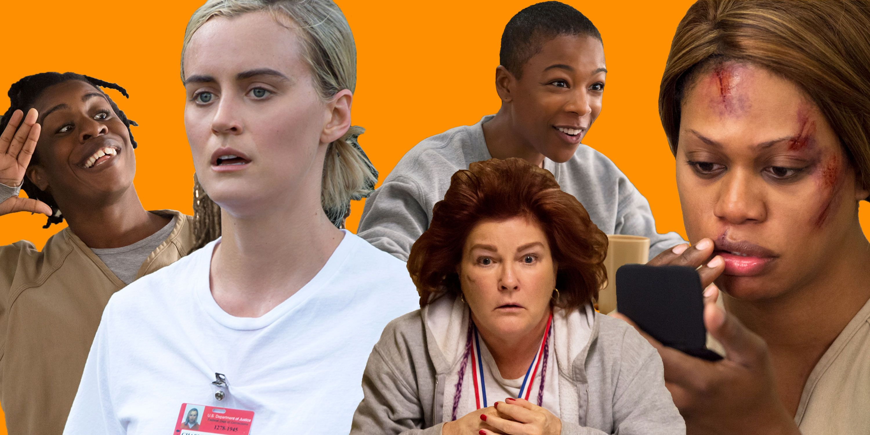 PHOTOSHOP, OITNB, Orange is the New Black shocking moments, Crazy Eyes, Piper, Red, Poussey, Sophia