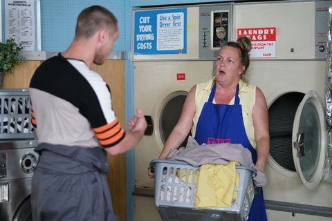 Keanu Taylor argues with Karen in EastEnders