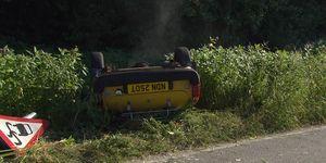 Frank Clayton and Megan Macey's car crash horror in Emmerdale