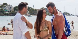 Sylver McQueen with Russ Owen and Mercedes McQueen in Hollyoaks