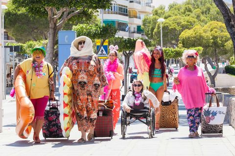 The McQueens in Magaluf in Hollyoaks