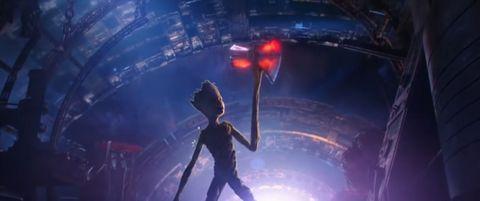 cde29e0ba02 Avengers  Infinity War directors reveal how Groot can lift Thor s hammer  Stormbreaker