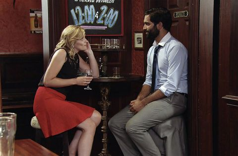 Leanne Battersby and Imran Habeeb get closer in Coronation Street