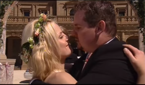 Dee Bliss and Toadie Rebecchi get married in Neighbours in 2003