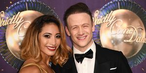 Karen Clifton and husband Kevin Clifton attend the 'Strictly Come Dancing 2017' launch