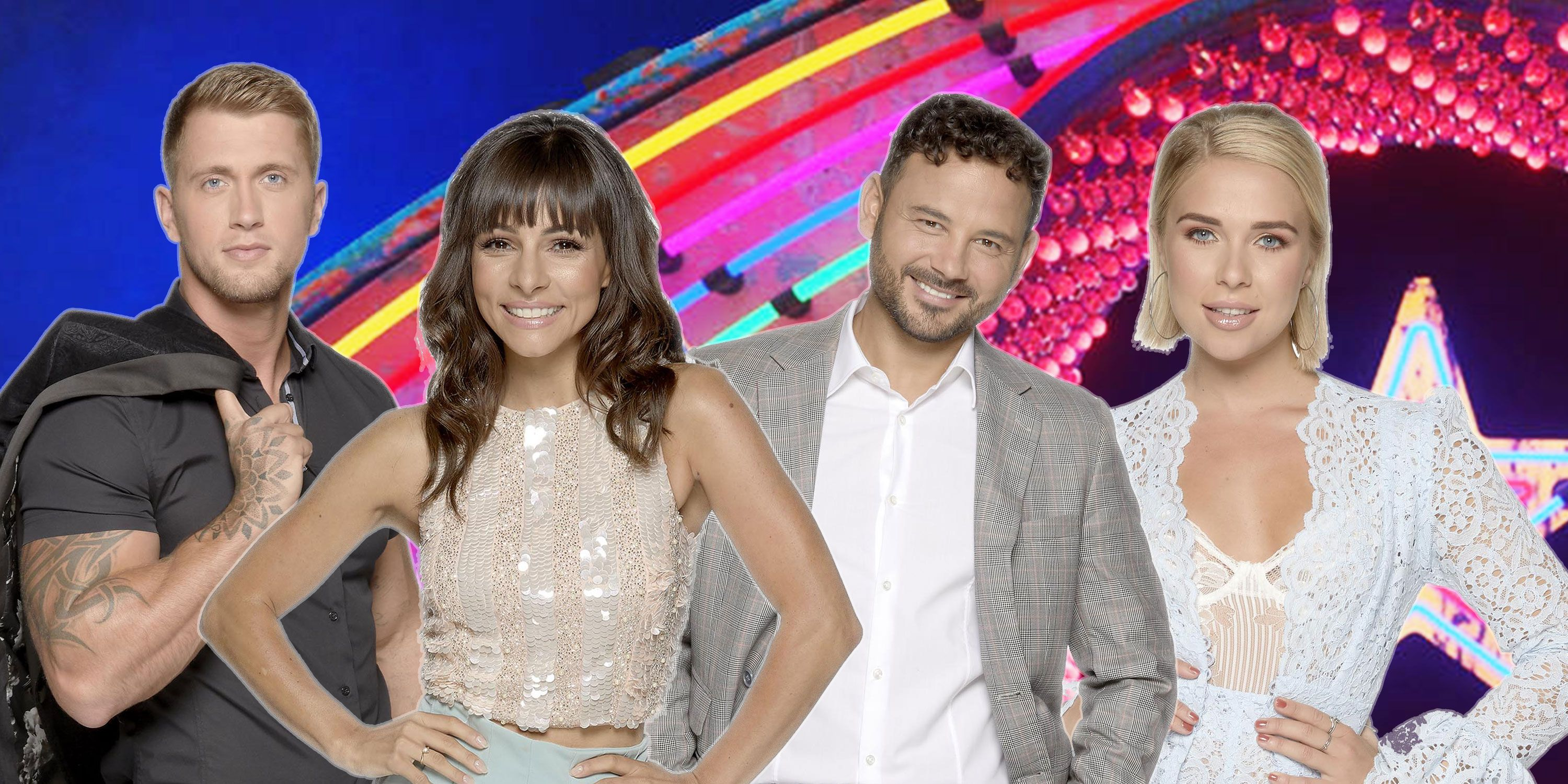 Roxanne Pallett , Dan Osbourne, Gabby Allen, Ryan Thomas, Celebrity Big Brother 2018