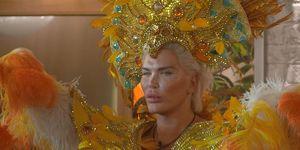 Celebrity Big Brother's Rodrigo Alves during carnival task