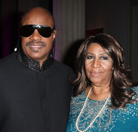 Stevie Wonder and Aretha Franklin  at BET Honors 2012 Pre-Honors dinner at the Corcoran Gallery of Art