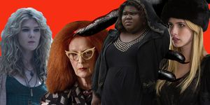 PHOTOSHOP, AHS: Coven witches, Emma Roberts, Gabourey Sidibe, Lily Rabe, Frances Conroy
