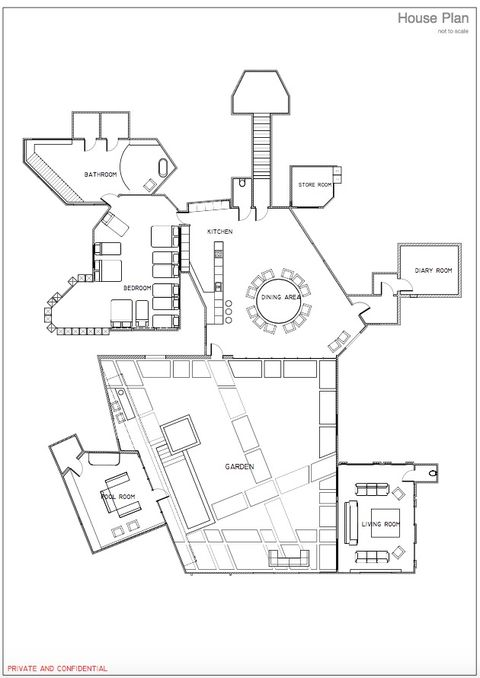 Celebrity Big Brother Floor Plan All The Secret Spots In The House Revealed