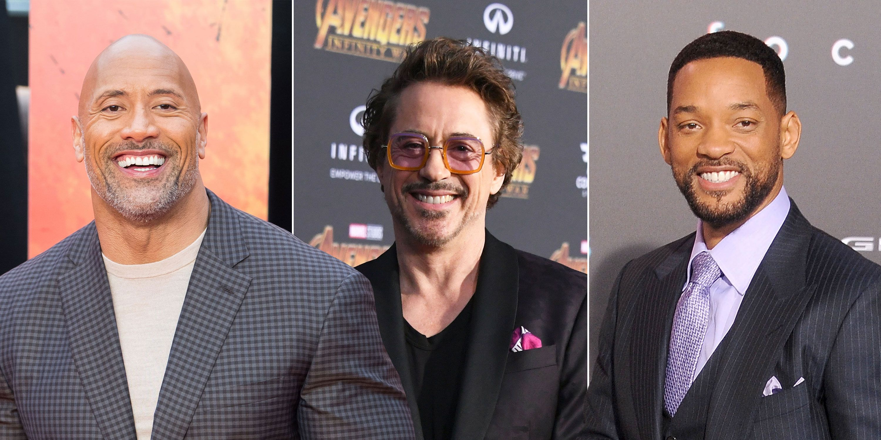 Dwayne Johnson, Robert Downey Jr., Will Smith, Forbes Highest-Paid Actors 2018