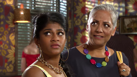 EMBARGO 24/8 Yasmine and Misbah in Hollyoaks