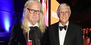 Billy Connolly, Michael Parkinson pictured at the GQ Men of the Year Awards 2016