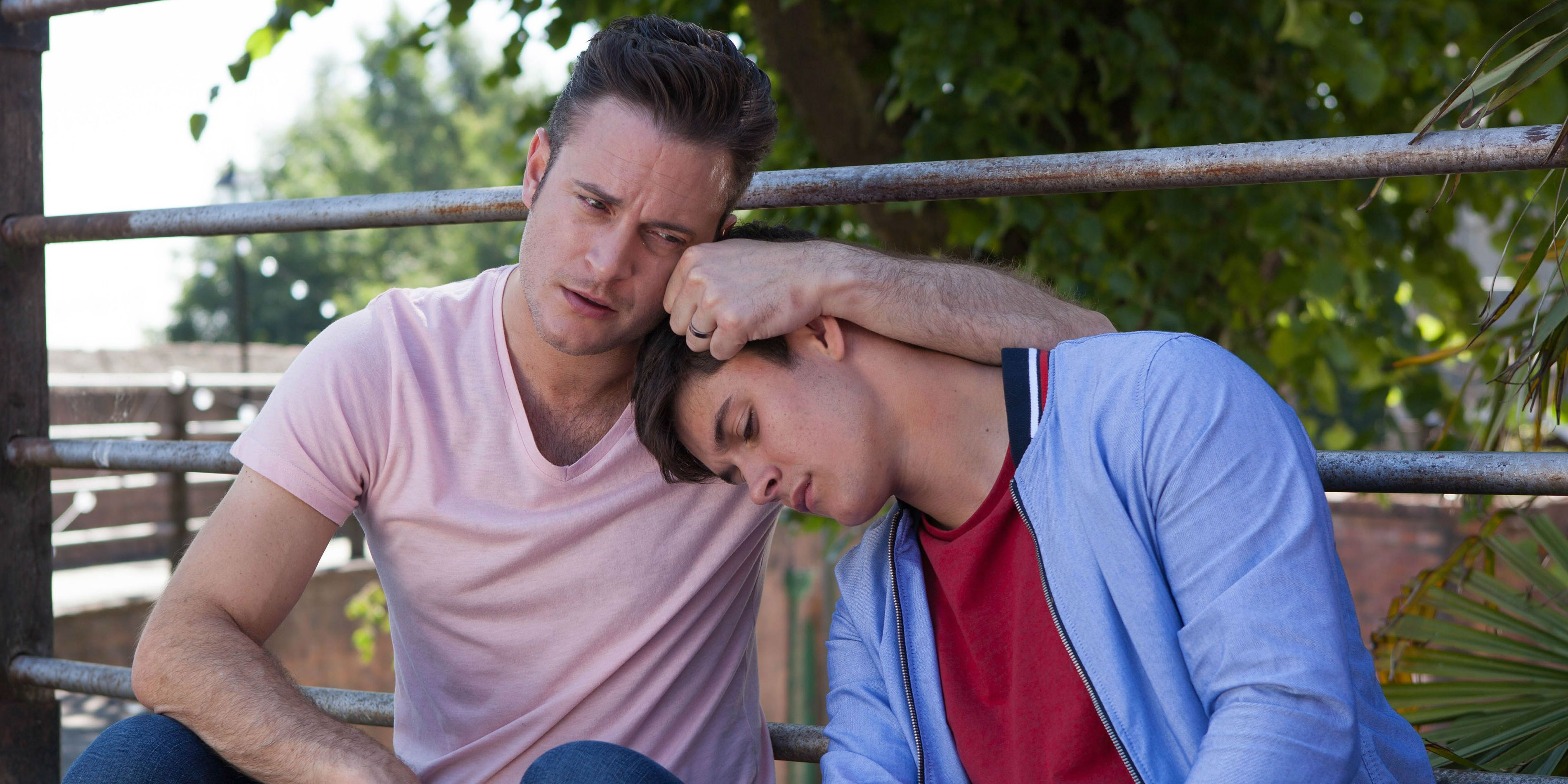 Ollie Morgan is caught drinking by Luke in Hollyoaks