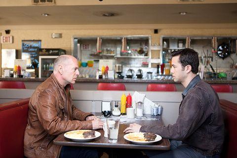 Looper Joe (Bruce Willis and Joseph Gordon-Levitt)