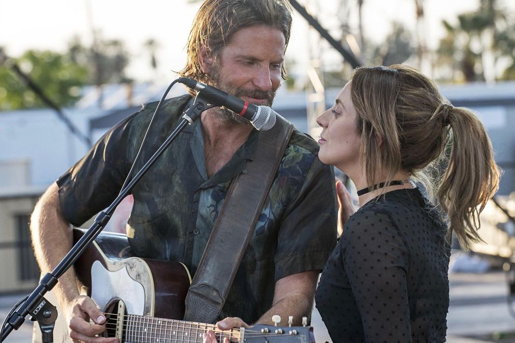 Bradley Cooper and Lady Gaga in A Star is Born 2018