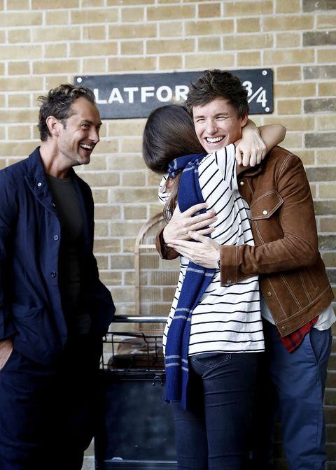 Fantastic Beasts' Eddie Redmayne and Jude Law surprise Harry