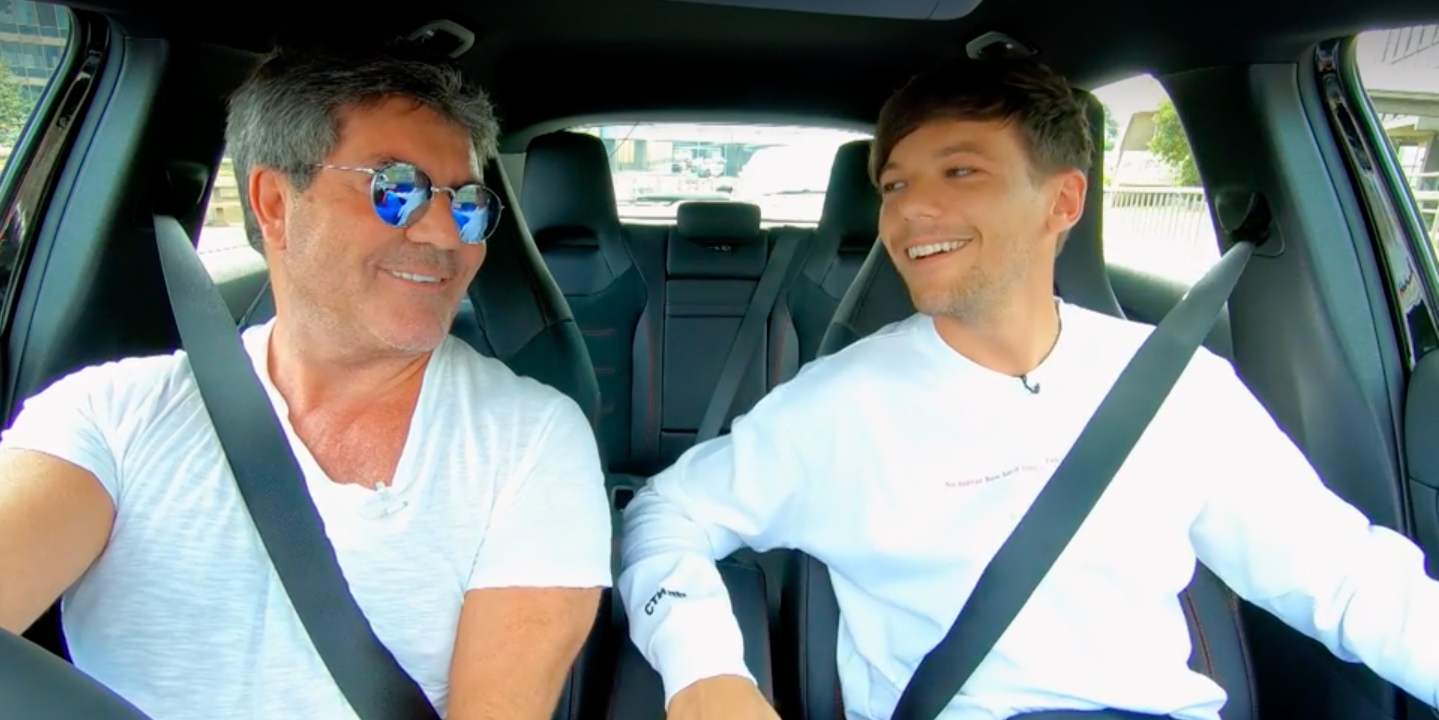 Simon Cowell,  Louis Tomlinson, in X Factor Car Share clip