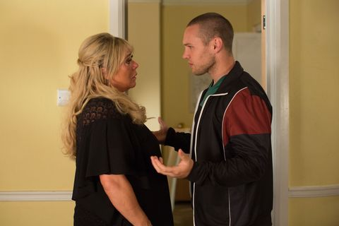 Sharon Mitchell and Keanu Taylor give into temptation but Louise nearly catches them in EastEnders