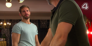 Brody Hudson confronts Buster Smith in Hollyoaks