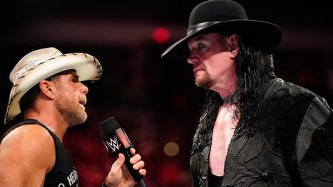 Shawn Michaels and The Undertaker on WWE Monday Night Raw