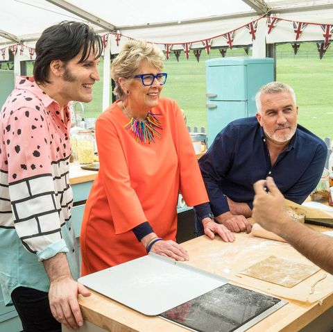Noel Fielding, Prue Leith, Paul Hollywood, The Great British Bake Off 2018, GBBO
