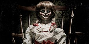 Annabelle doll from the movie poster - Conjuring series