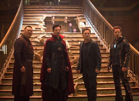 avengers infinity war, wong, doctor strange, bruce banner, iron man