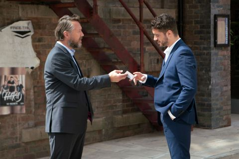 Adam Barlow is confronted by Ronan in Coronation Street