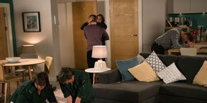 Cormac dies at the Connor flat in Coronation Street