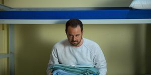 Mick Carter in prison in EastEnders
