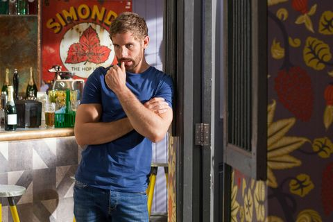 Brody Hudson shows his support to Ollie Morgan in Hollyoaks