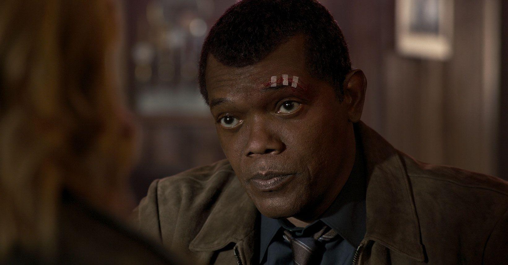Capitão Marvel, Samuel L. Jackson como um jovem Nick Fury