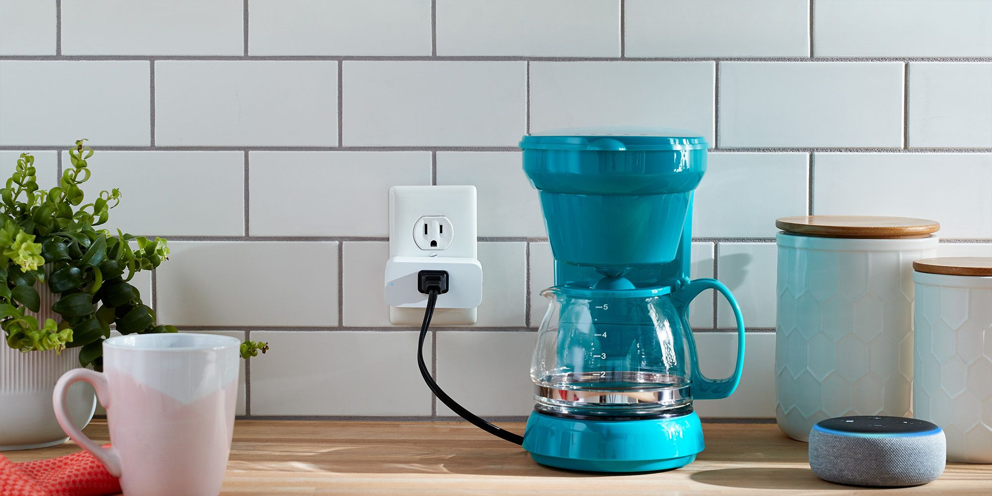 Amazon Smart Plug in a kitchen