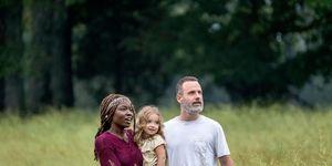 The Walking Dead, Michonne, Judith, Rick, season 9 episode 1, Danai Gurira, Andrew Lincoln