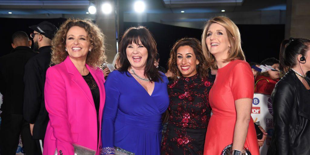 Nadia Sawalha, Coleen Nolan, Saira Khan and Kaye Adams attend the Pride Of Britain Awards