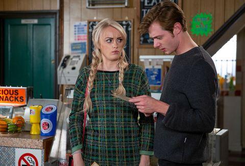 Sinead Tinker becomes upset around Daniel Osbourne in Coronation Street