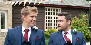 Robert Sugden and Aaron Dingle's wedding day arrives in Emmerdale