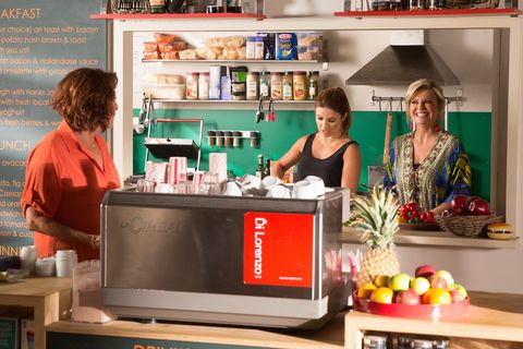 Irene Roberts talks about housemates to Leah Patterson-Baker and Marilyn Chambers in Home and Away