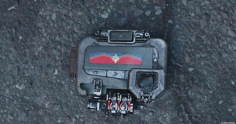 Capitão Marvel pager na cena de pós-créditos de Avengers Infinity War