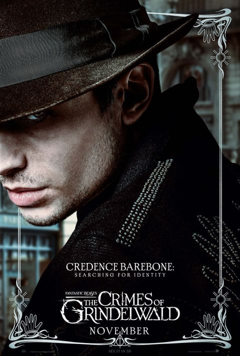 Fantastic Beasts 2 character posters, Credence Barebone