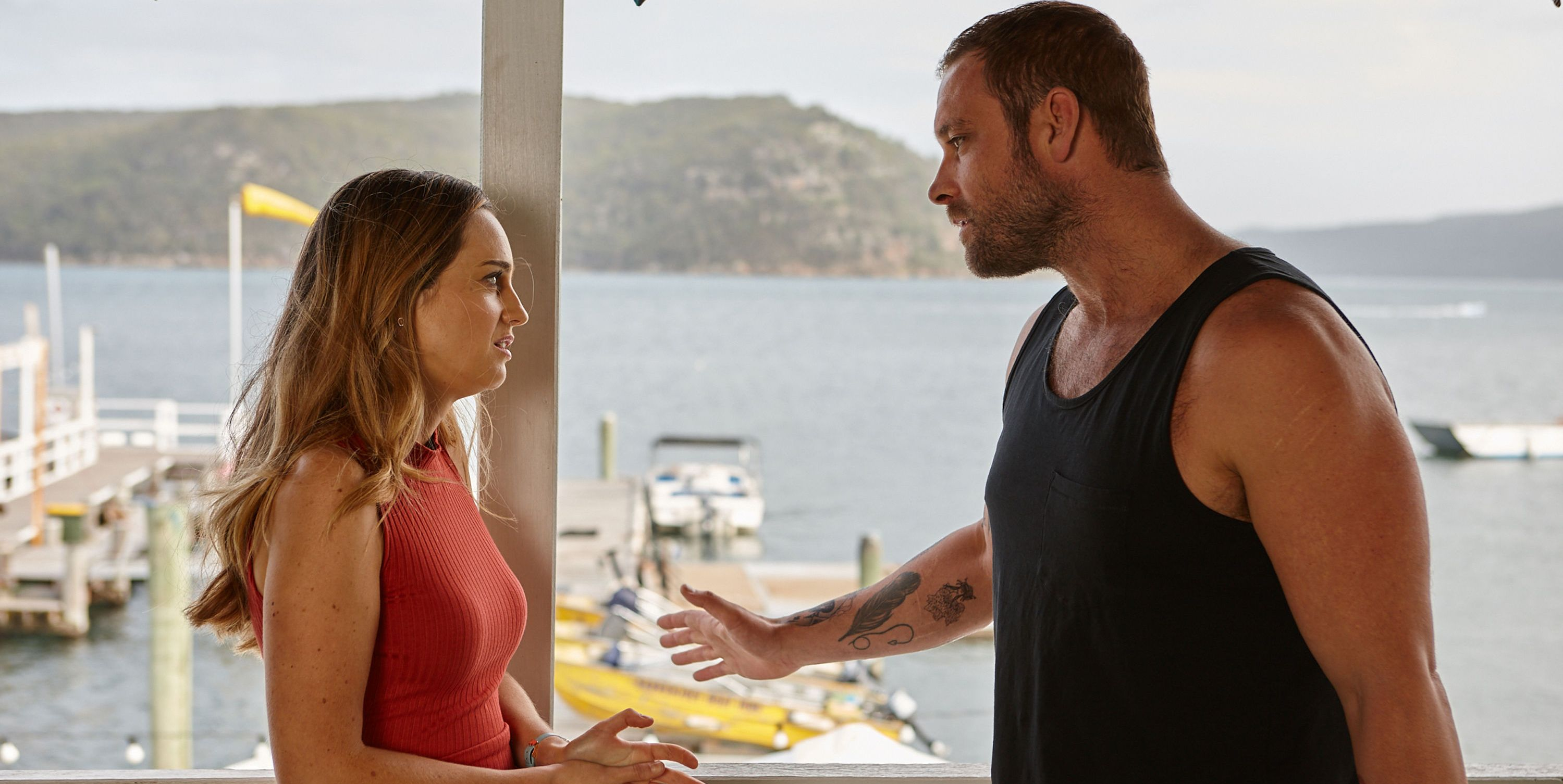 Robbo with Tori Morgan in Home and Away