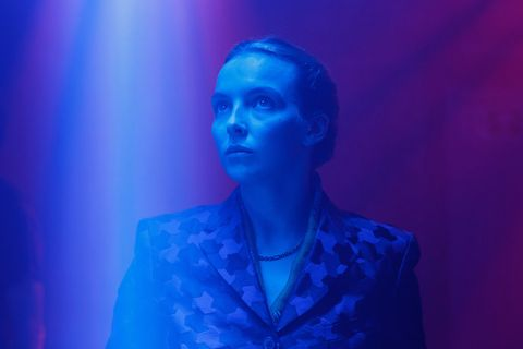 Blue, Cobalt blue, Electric blue, Performance, Light, Purple, Fashion, Human, Stage, Performing arts,