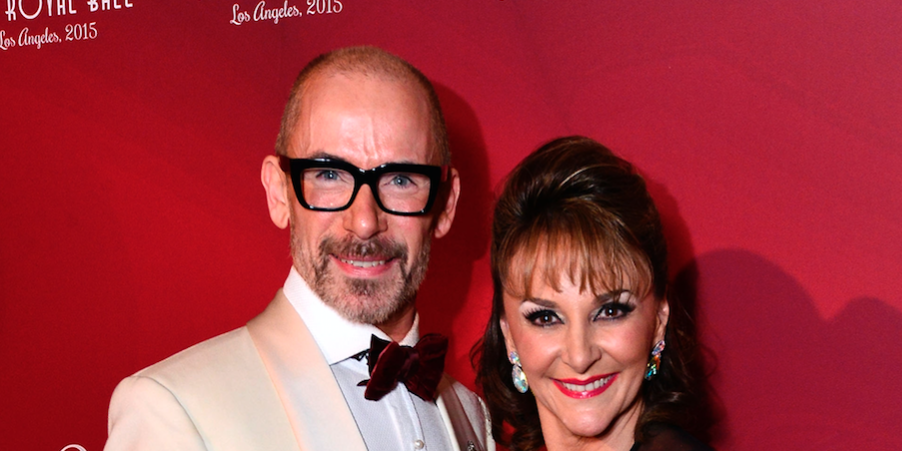 Paul Killick and Shirley Ballas attend the 2015 Royal Ball Hollywood Gala