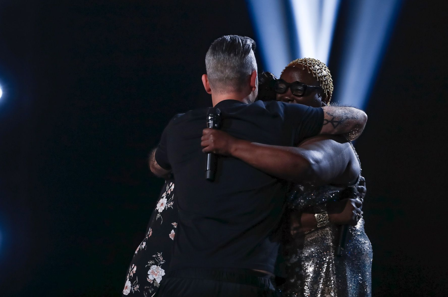 X Factor judge Robbie Williams hijacks wife Ayda Field's singers to form his own group