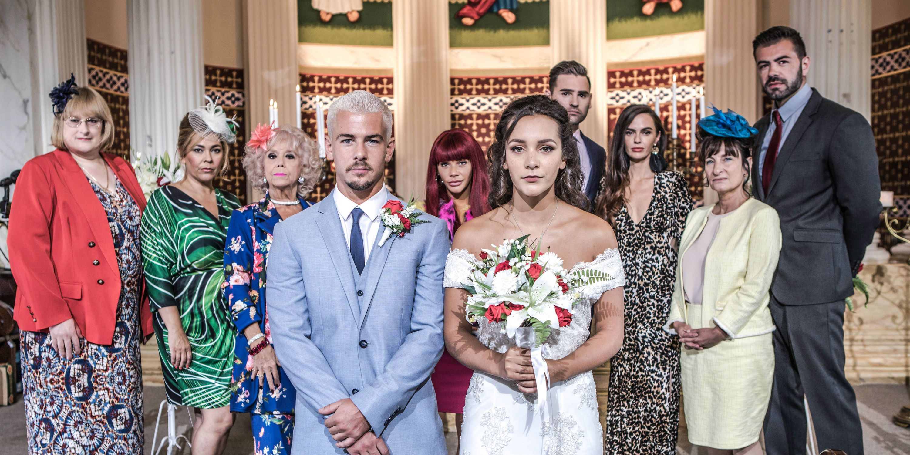 Cleo McQueen and Joel Dexter's wedding day arrives in Hollyoaks
