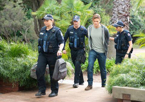 Cassius Grady is arrested in Neighbours
